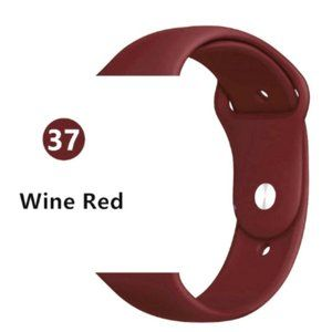 NEW Wine Red Sport Silicone For Apple Watch